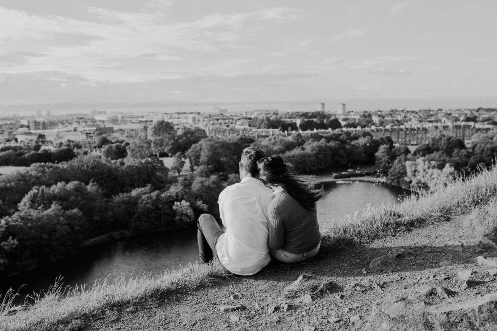 Arthur's Seat Edinburgh Engagement, Arthur's Seat Edinburgh Engagement Session – Jasmin and Hugh