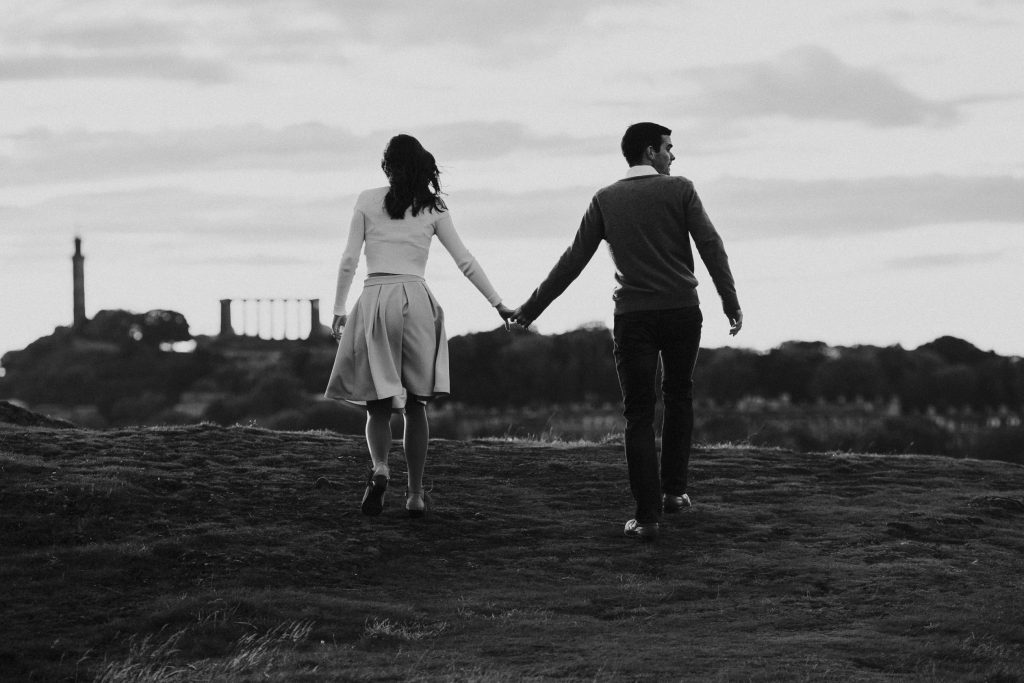 Holyrood Park Engagement Session, Holyrood Park Engagement Session – Cloie and Sam