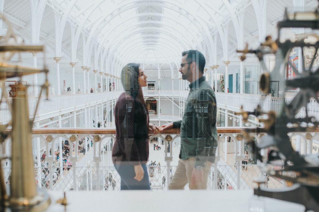 National Museum Scotland Surprise Proposal Edinburgh, Iris Art Photography – National Museum of Scotland Surprise Proposal Edinburgh