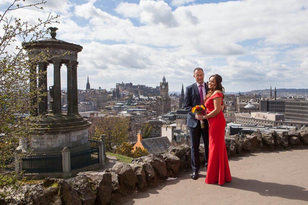 Calton Hill Edinburgh Wedding photography