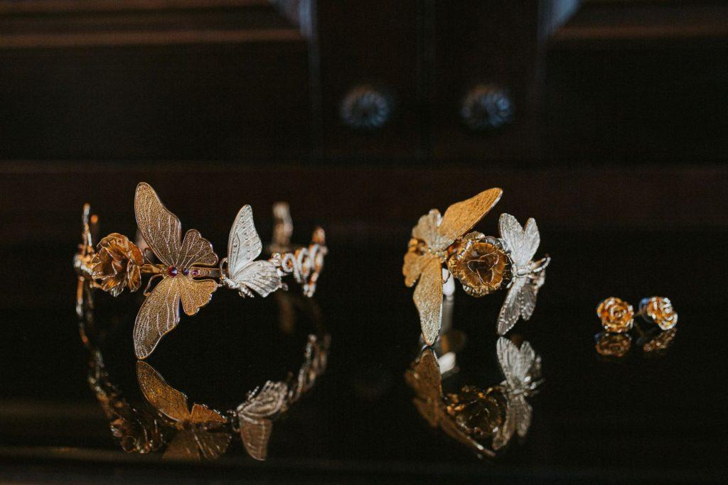 Borthwick Castle Wedding Photography the bridal jewels