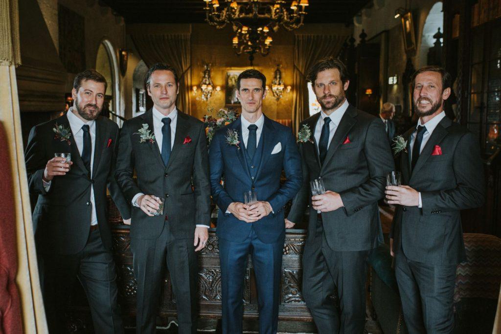 Borthwick Castle Wedding Photography the groomsmen