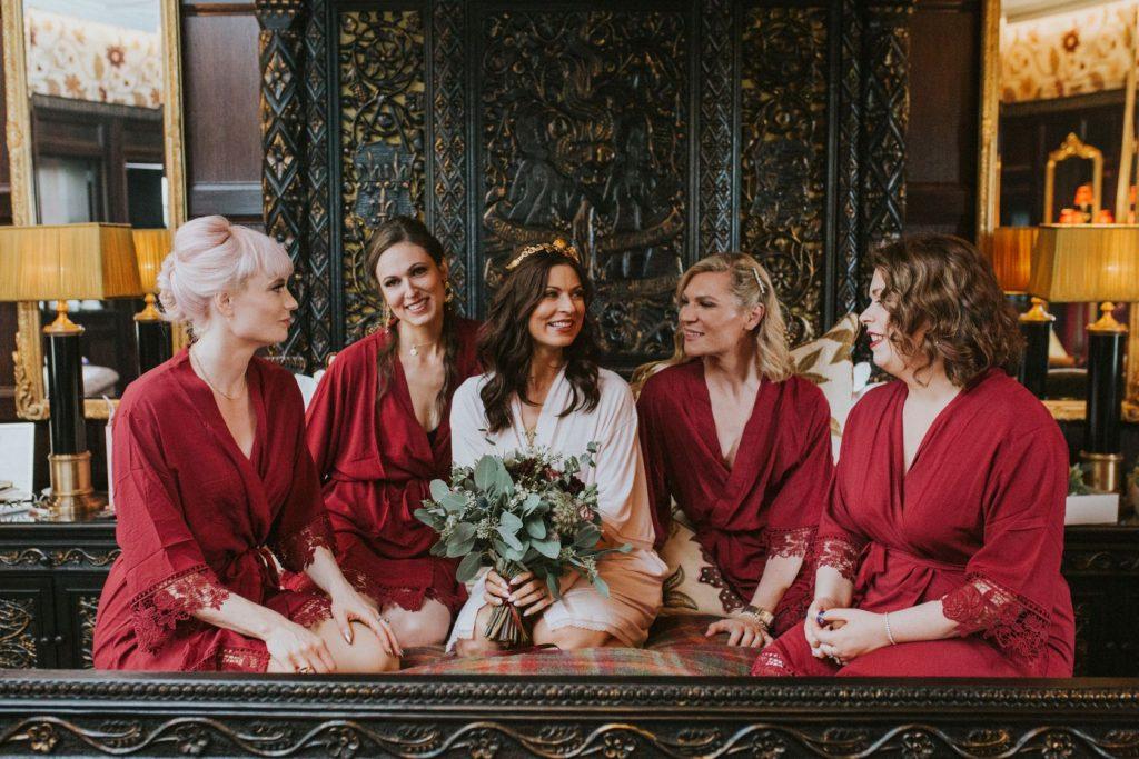 Borthwick Castle Wedding Photography morning bridesmaids