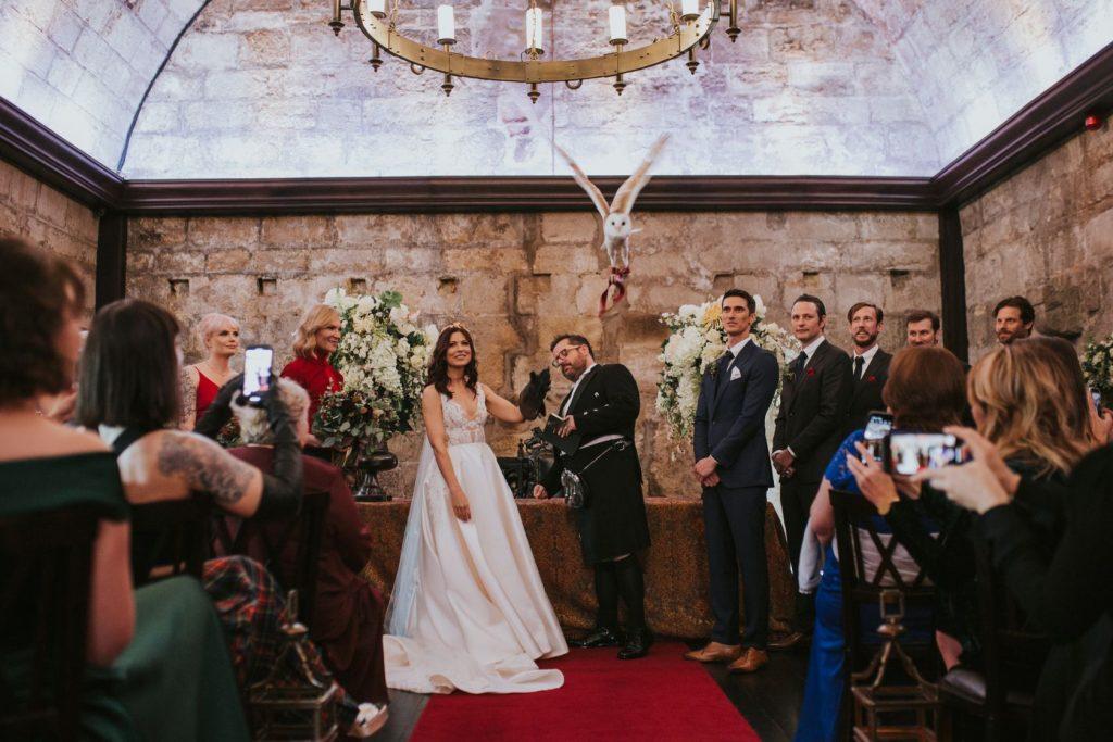 Borthwick Castle Wedding Photography wedding owl