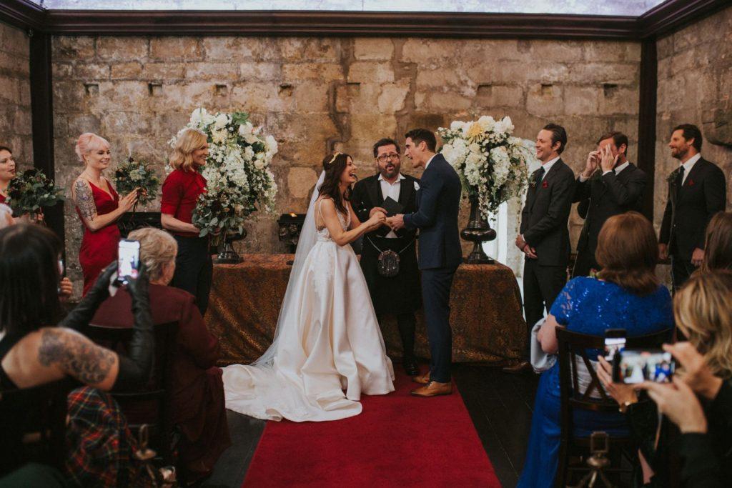 Borthwick Castle Wedding Photography the ceremony