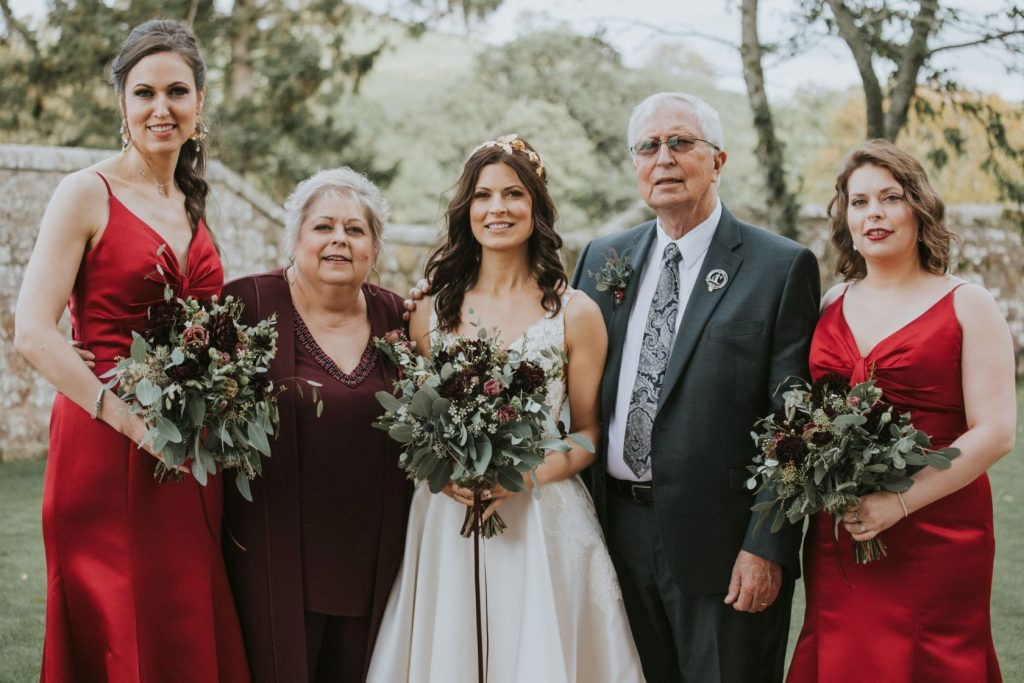 Borthwick Castle Wedding Photography the brides family