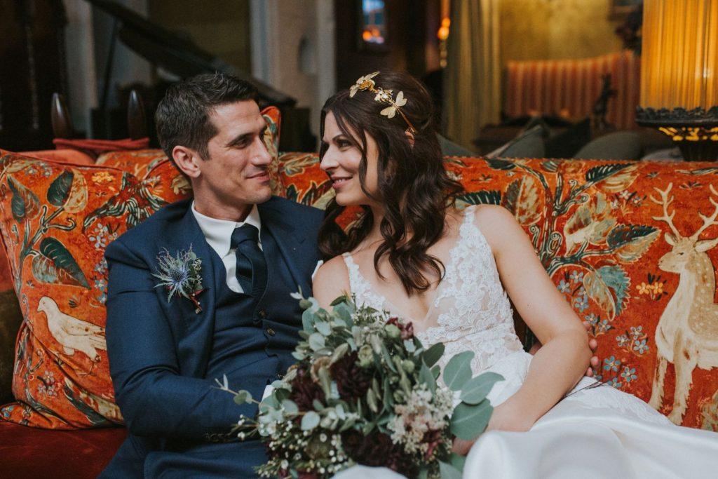Borthwick Castle Wedding Photography the couple