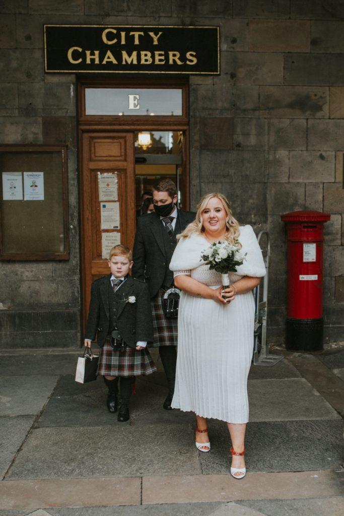 city chambers of edinburgh micro wedding