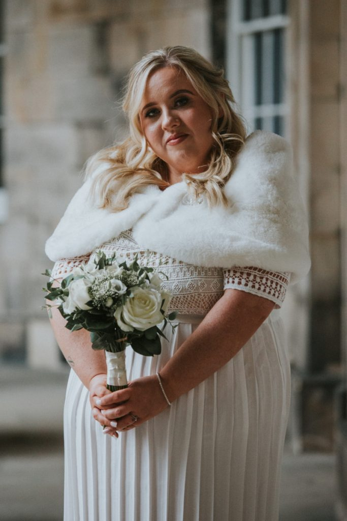 Bride's portrait edinburgh