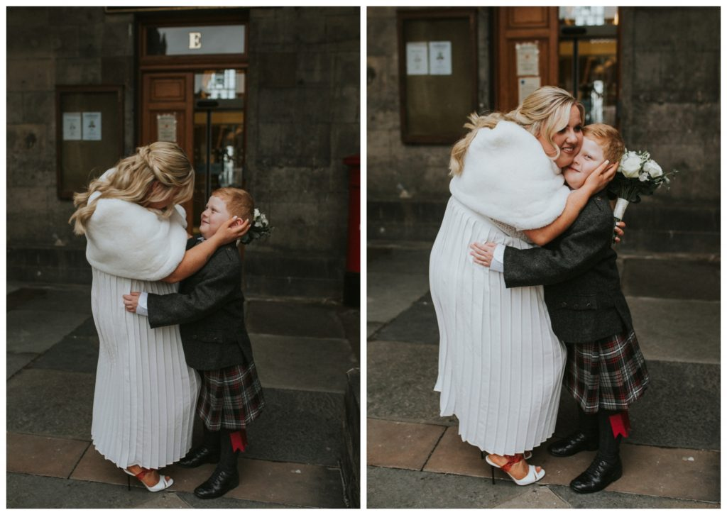 emotional mother and son wedding