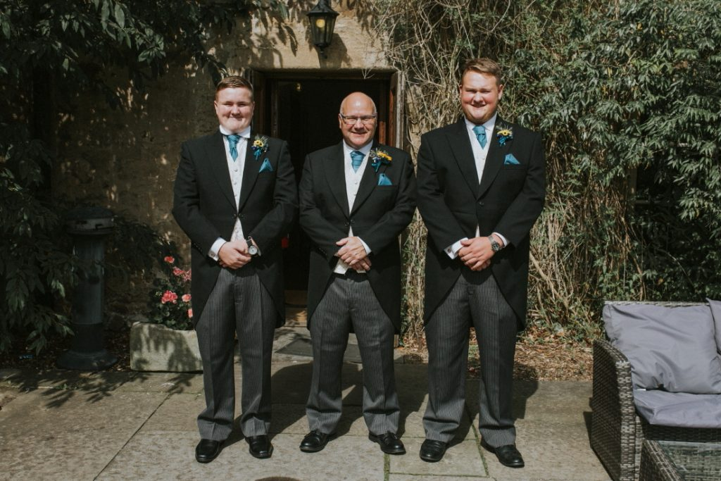 Groom and groomsmen carberry tower