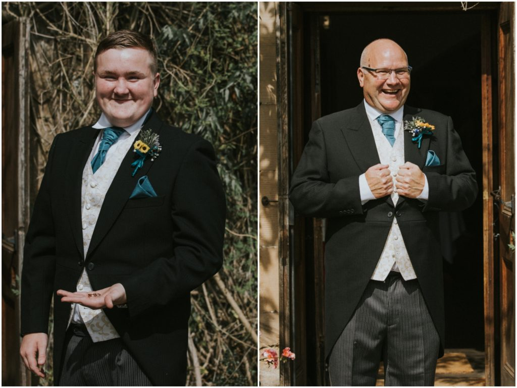 Groom and Groomsman Edinburgh Wedding