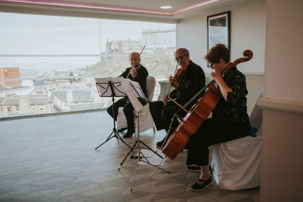 quarted orchestra edinburgh wedding photography